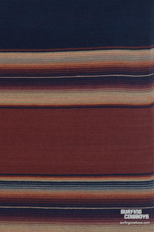 Merino Wool Serape Blanket Navy Brick - pre-order