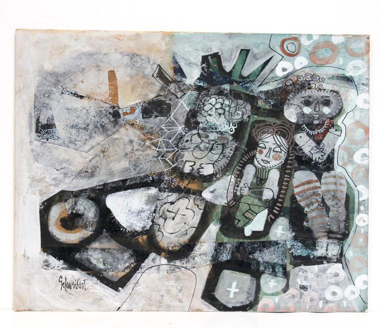 Donald Schweikert Collage Painting