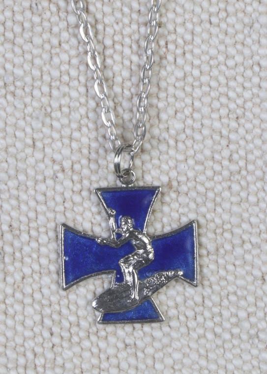Iron Cross Surfer Pendant