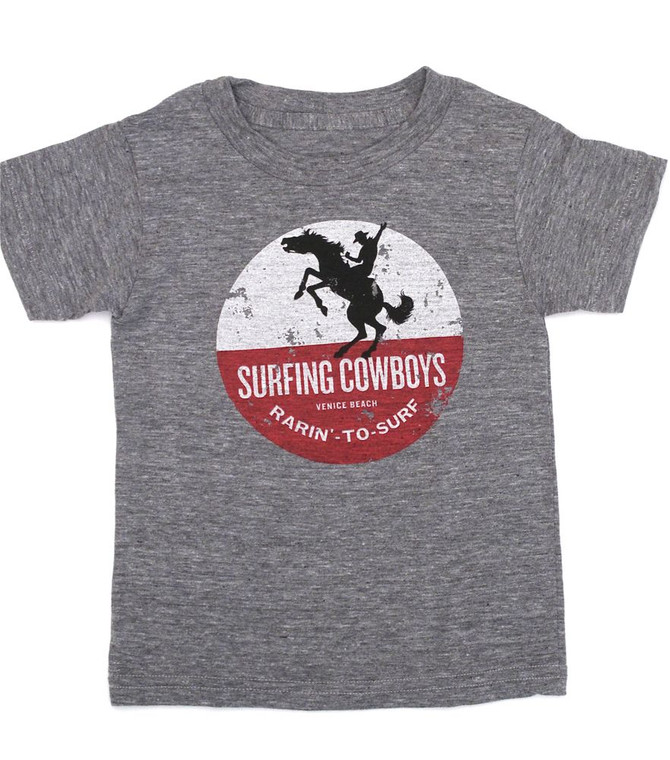 Rarin' to Surf Surfing Cowboys T-Shirt for Youth