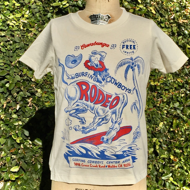 Surfing Cowboys Rodeo Kids T-shirt