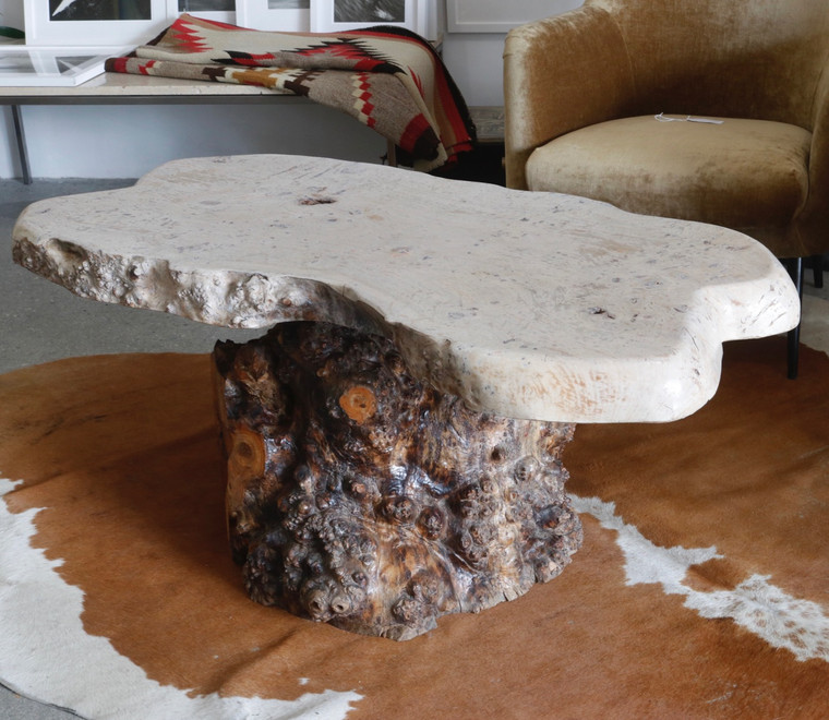 Organic Burl Wood Table