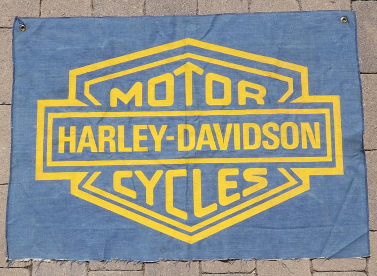Harley Davidson Banner Original Vintage circa 1970s