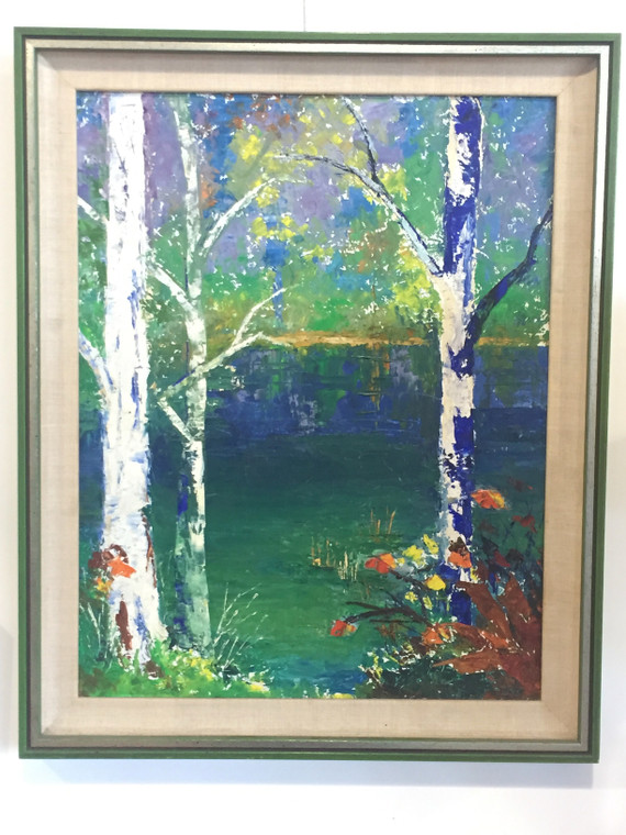 Colored Forest Oil Painting