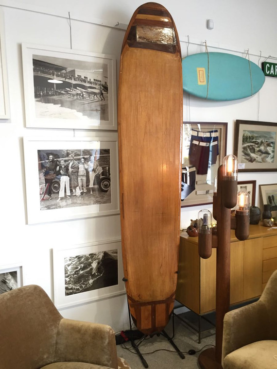 """Wooden """"Hollow"""" Handcrafted Surfboard"""