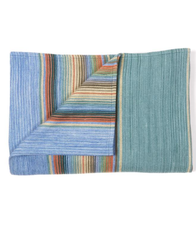 Cotton Serape Blanket Sea and Sky  - in stock