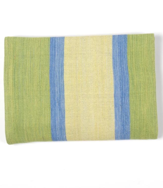 Cotton Wide Stripe Serape Lime Slice  - in stock