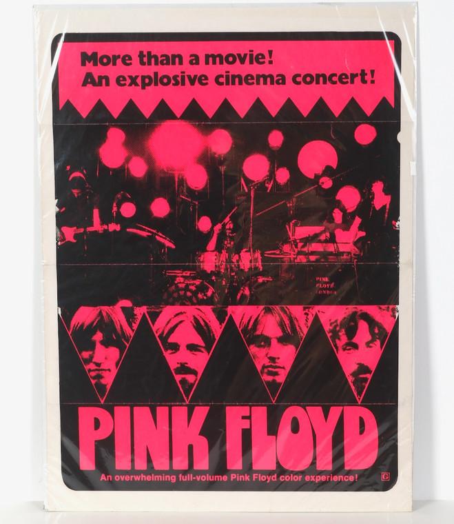 Pink Floyd Promotional 1973 Pompeii Concert Movie Poster