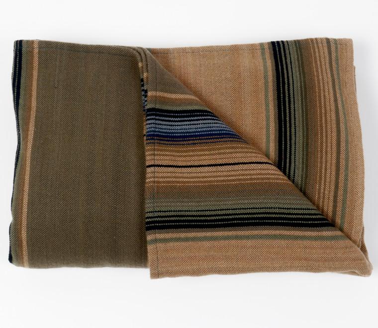 Merino Wool Serape Sage Green, Wet Sand and Sky  - pre-order