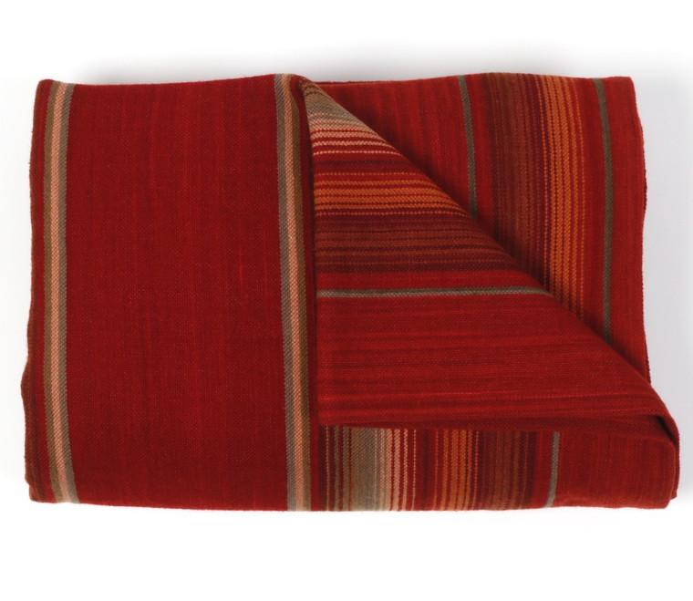 Merino Wool Serape Red on Red - in stock