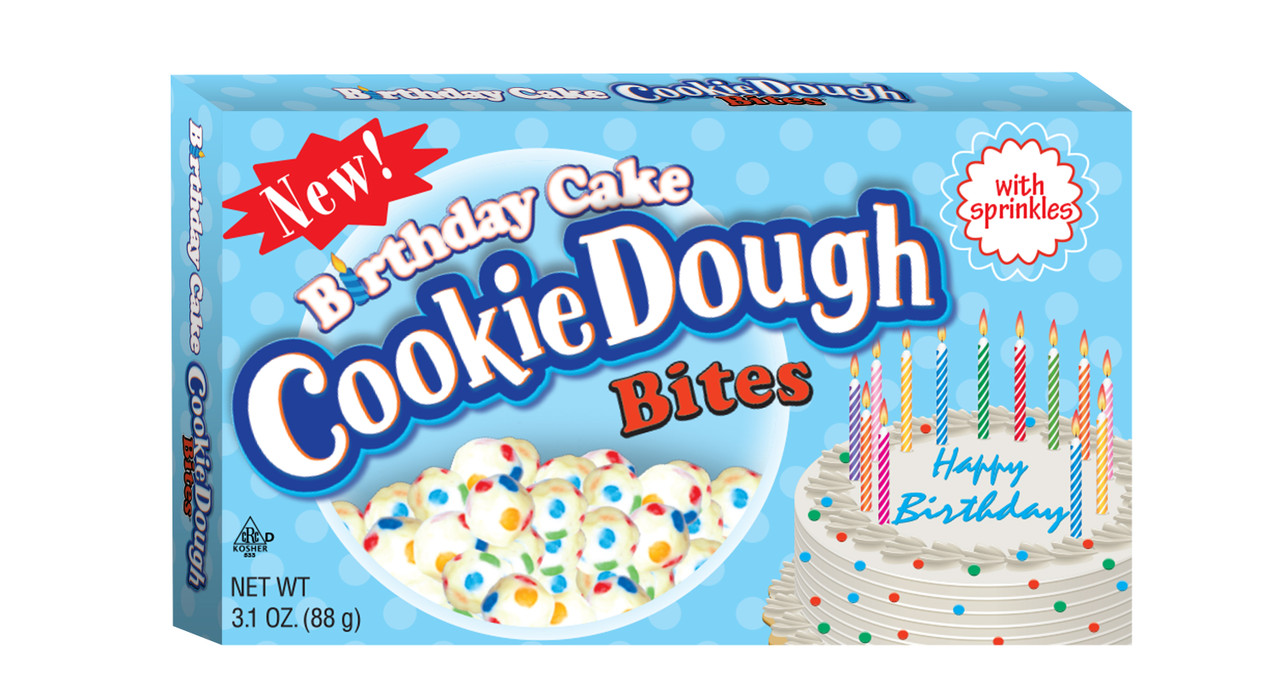 Super Birthday Cake Cookie Dough Bites In A Theater Box By Taste Of Nature Funny Birthday Cards Online Overcheapnameinfo