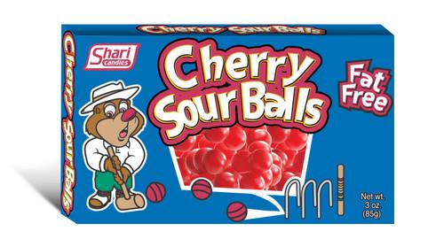 Cherry Sour Balls - Theater Box - 12 pack