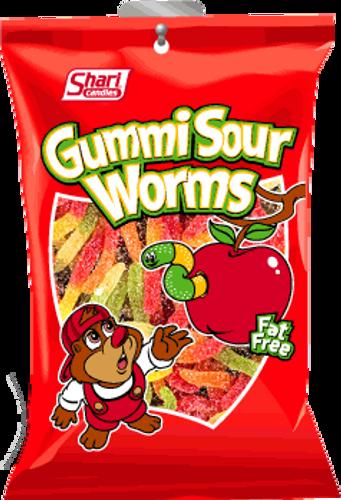 Gummi Sour Worms - 12 units per case