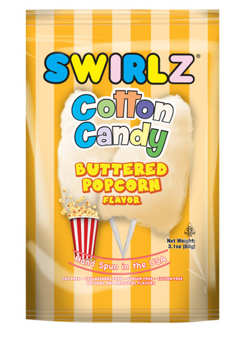 buttered popcorn cotton candy, cotton candy