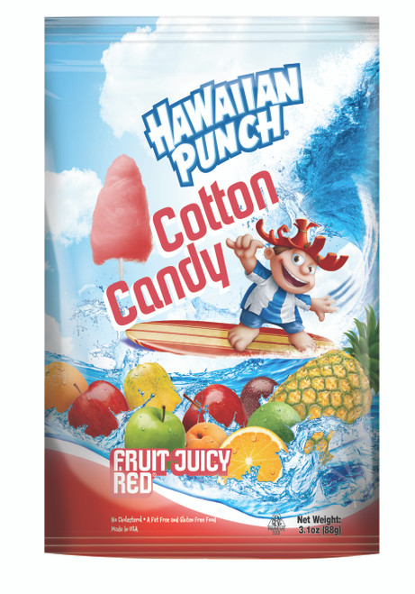 Hawaiian Punch Cotton Candy - 12 pack