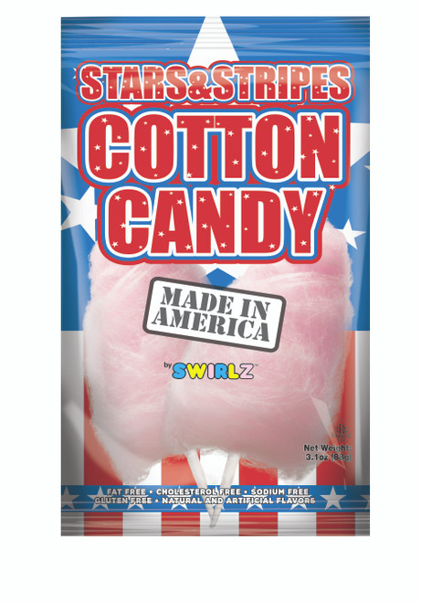 Stars & Stripes Cotton Candy - 12 pack
