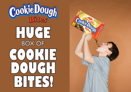 Chocolate Chip Cookie Dough Bites - Ginormous Box
