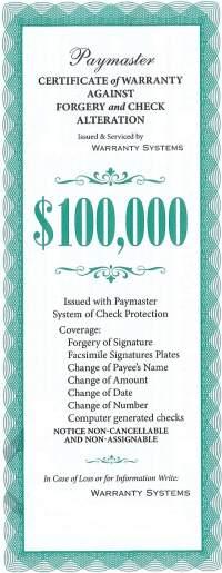 100k-forgery Warranty