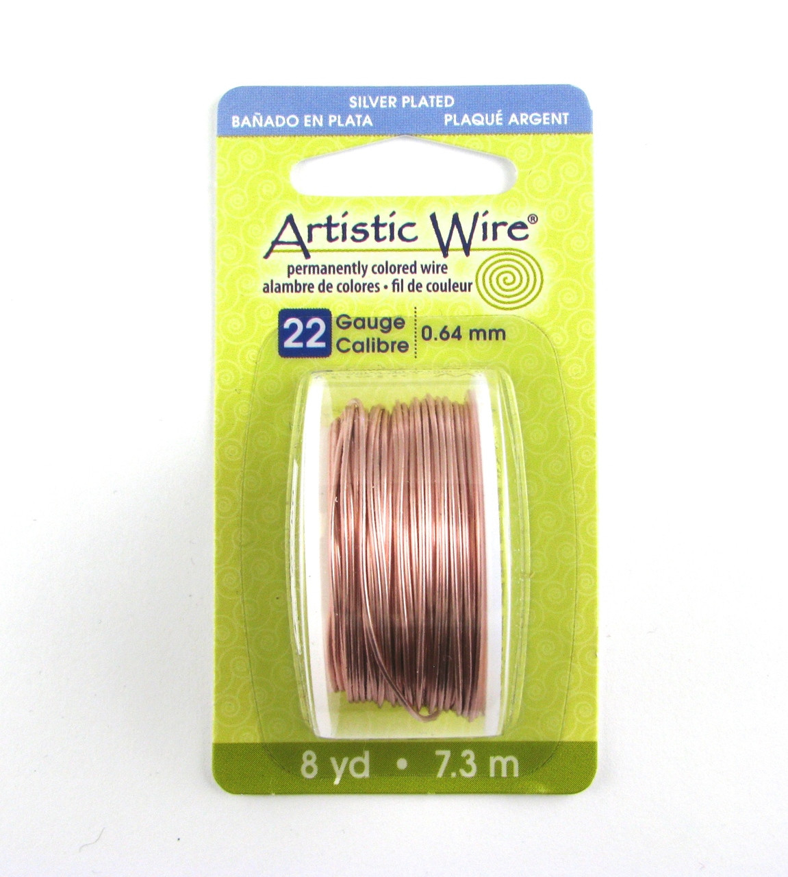 Str0166 Rose Gold Color 22 Gauge Artistic Wire 8 Yd Spool Mitch S Beads