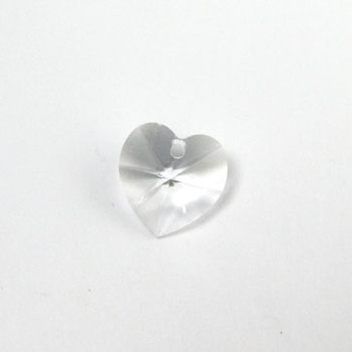 6202 - Swarovski Heart Pendant 10mm, Clear