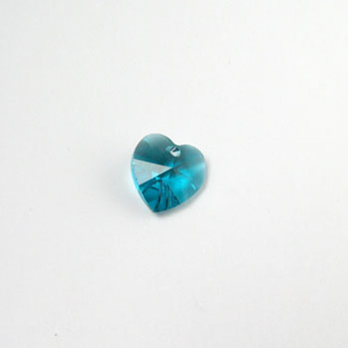 6202 - Swarovski Heart Pendant 10mm, Blue Zircon