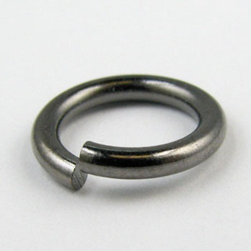 12mm Open Jump Ring, Thick, Gunmetal Plated (pkg of 50)