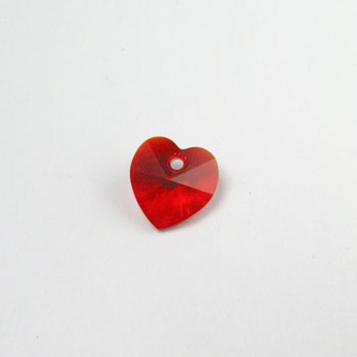 6202 - Swarovski Heart Pendant 10mm, Light Siam