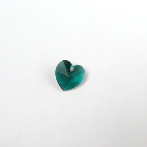 6202 - Swarovski Heart Pendant 10mm, Emerald