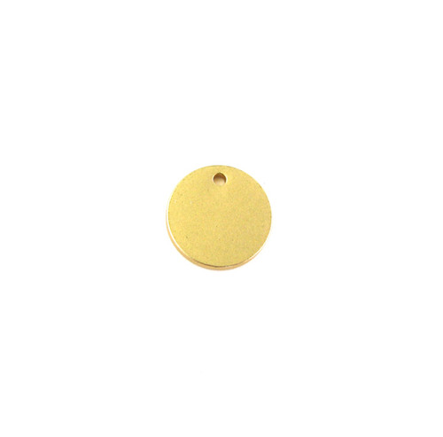 Satin Hamilton Gold 12mm Small Disc Drop/Charm (Sold by the Piece)