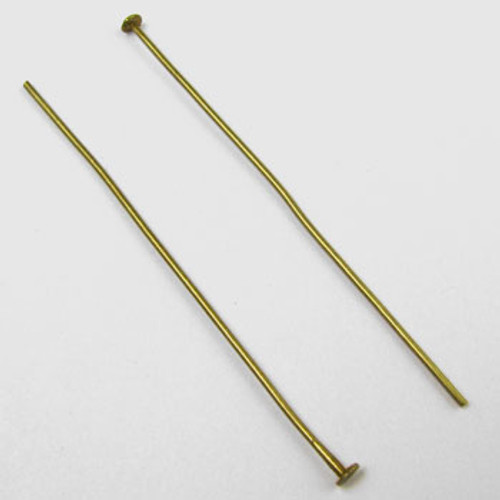 ABP006 - 2 in. Headpin, 20 gauge, Antique Brass Plated (pkg of 50)