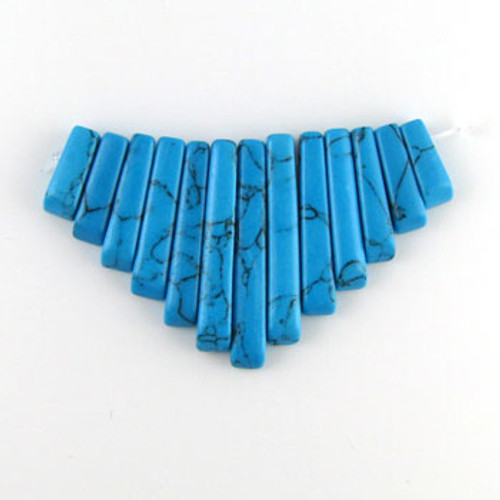 CL0008 - Turquoise, Philippines Semi-Precious Stone Collar (13 pieces)