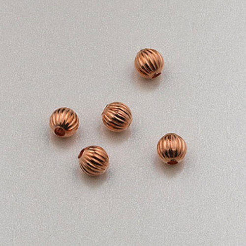 COP0011 - 3mm Round Corrugated Bead, Solid Copper (pkg of 200)