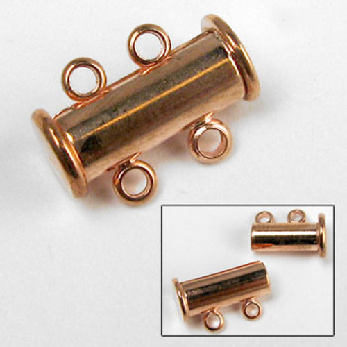 COP0037 - 2-Strand Magnetic Tube Clasp (14mm), Copper Plated (each)