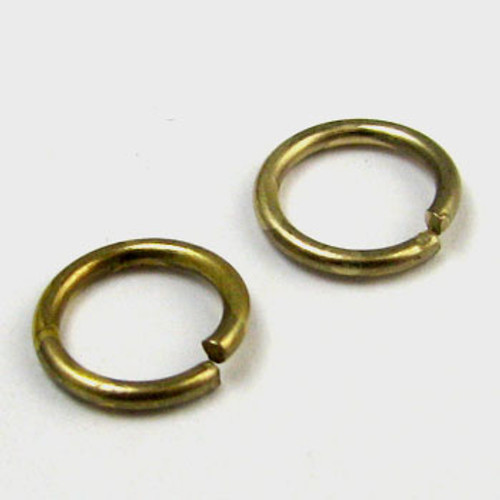 8mm Open Jump Ring, Antique Brass Plated (pkg of 100)