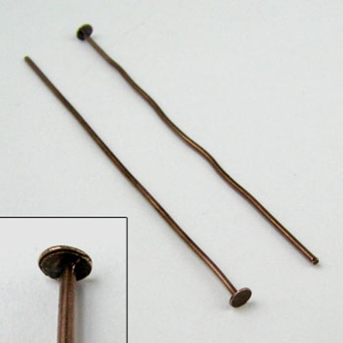 2 in. Headpin, 20 gauge, Antique Copper Plated (pkg of 50)