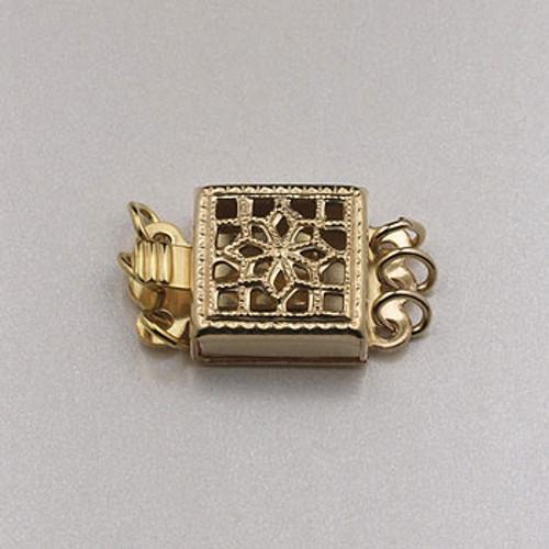 GF0074 - 3-Strand Box Clasp, Gold-Fill (each)