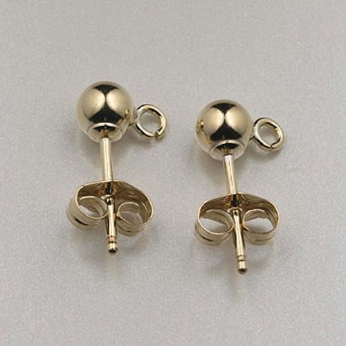 GF0079 - 4mm Post Earrings, Gold-Fill (5 pair)