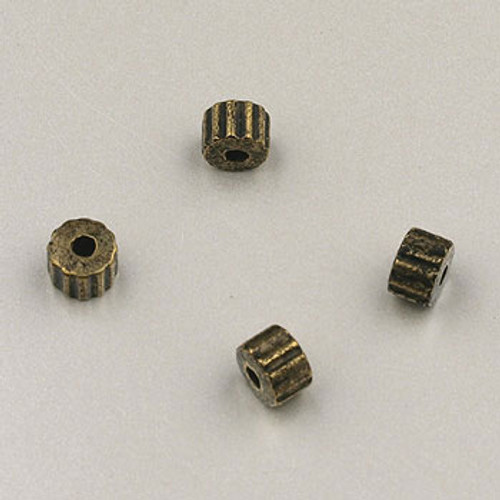 GP0002 - 4mm  in.Gear in. Beads, Antique Oxidized Gold Plate (pkg of 300)
