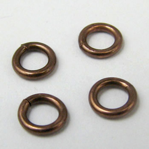 4mm Closed Jump Ring, Antique Copper Plated (pkg of 50)