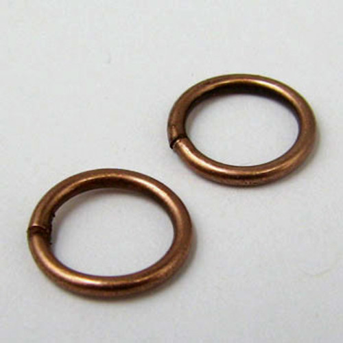8mm Closed Jump Ring, Antique Copper Plated (pkg of 50)