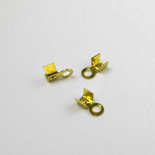 GP0171 - Leather Crimp, Gold-Plate (pkg of 36)
