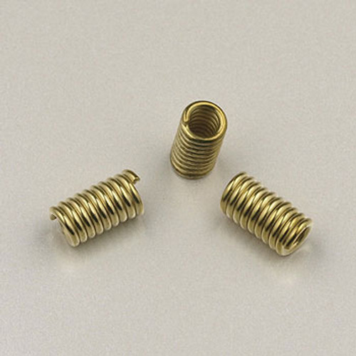 GP0172 - Leather Coil Crimp, Gold Plated (pkg of 24)