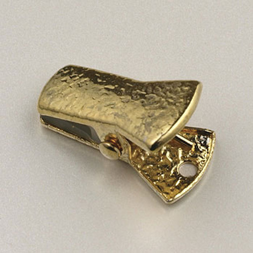 GP0176 - 20x8mm Bull Dog Grip Clip, Gold-Plate (pkg of 10)