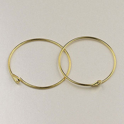 GP0178 - 3/4 in. Beading Hoops, Gold-Plate (pkg of 36)