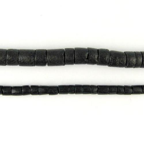 HB0003 - Black Coco Heishi Beads (24 in. strand)