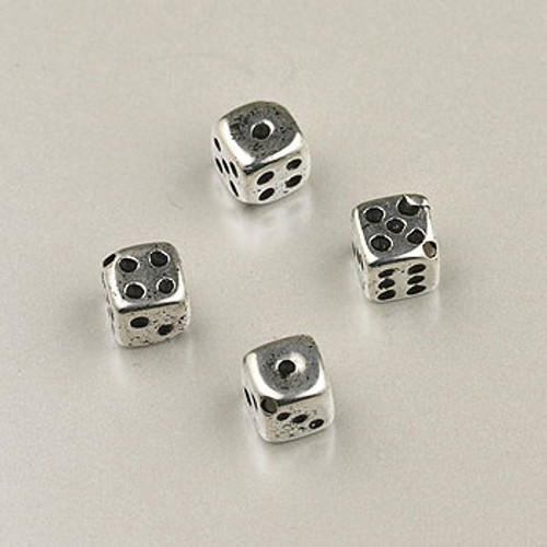 SP0061 - 5mm Dice Bead Silver Plate (pkg of 50)