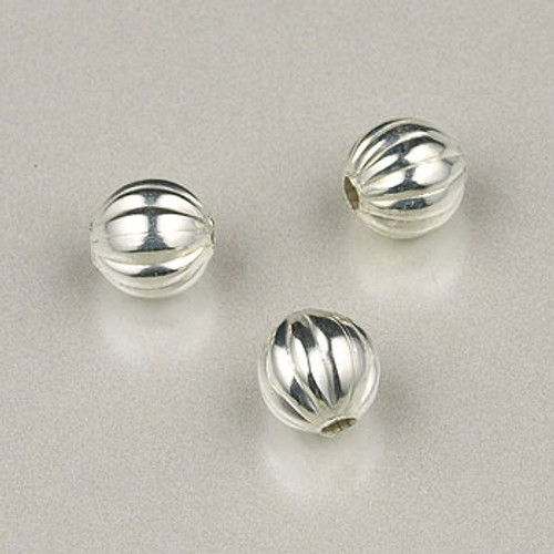 SP0165 - 4mm Fluted Round Silver Plate (pkg of 200)