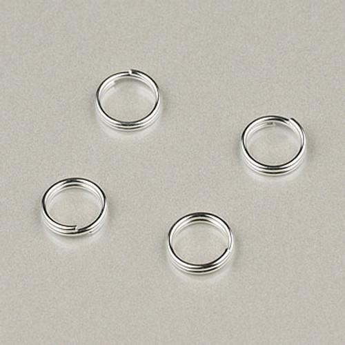 SP0238 - 6mm Split Rings Silver Plate (pkg of 100)