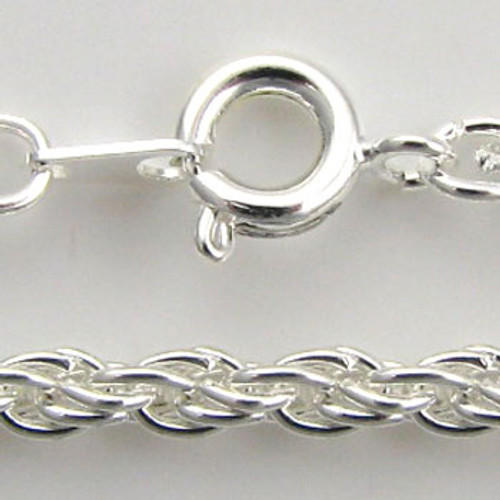 SP0352 - 3mm Thick Twisted Chain Necklace,  Silver Plate (pkg of 12)