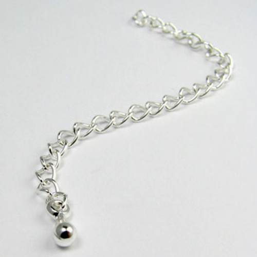 SPE01 - Extender Chain With Ball, Silver Plated (each)